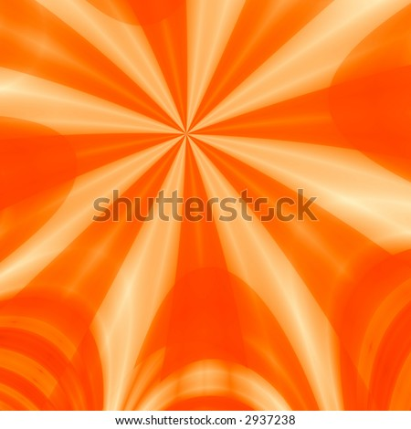 the generated orange rays dissecting space form an abstract background