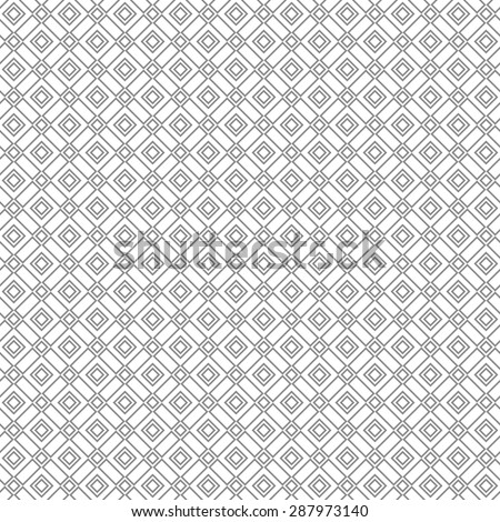 The geometric pattern by lines, squares. Seamless  background. Gray texture
