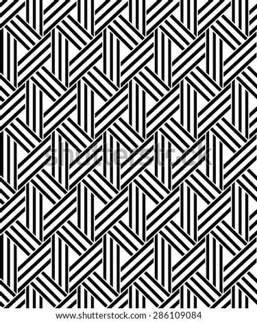 The geometric pattern by stripes . Seamless  background. Black texture.