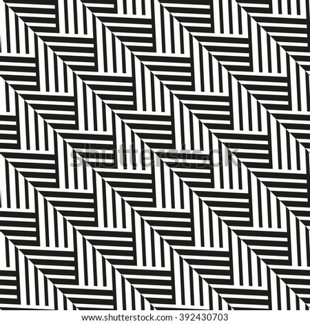 The geometric pattern by stripes . Seamless vector background. Black and white texture