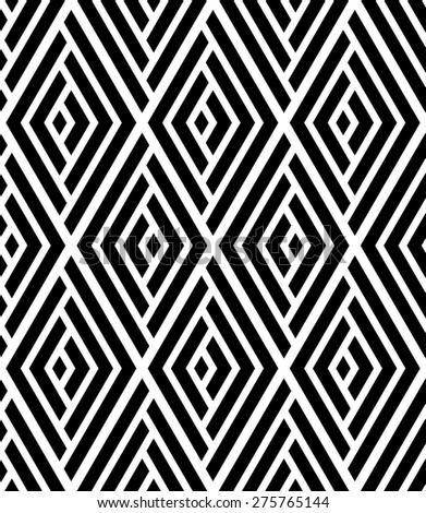 The geometric pattern with lines, stripes. Seamless  background. Dark texture - stock photo