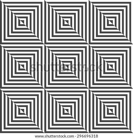 The geometric pattern with lines, stripes. Seamless  background. Dark texture