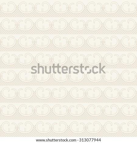 The geometric seamless pattern. mono line background. Beige texture. raster version - stock photo