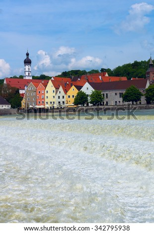 The German city of Landsberg am Lech - stock photo