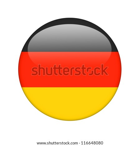 The German flag in the form of a glossy icon. - stock photo