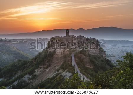 The ghost town of Civita di Bagnoregio, Lazio