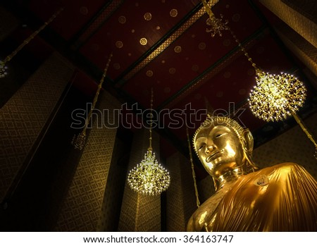 The Giant Buddha of Wat Kalayanamitr, Bangkok, Thailand