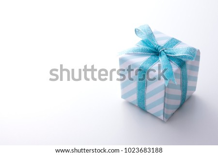 The gift box of a blue color