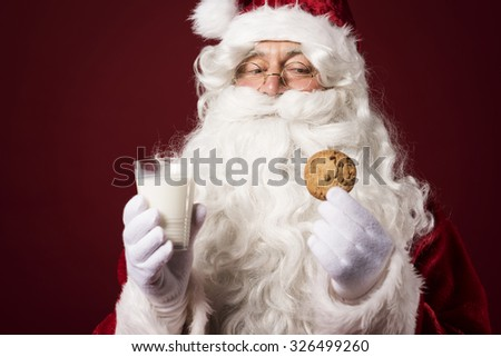 The gift from children for the Santa Claus - stock photo