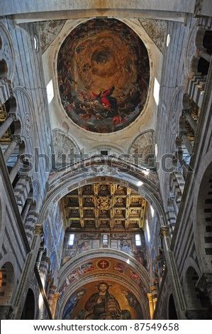 The Gilded and  Decorated Cathedral Ceiling