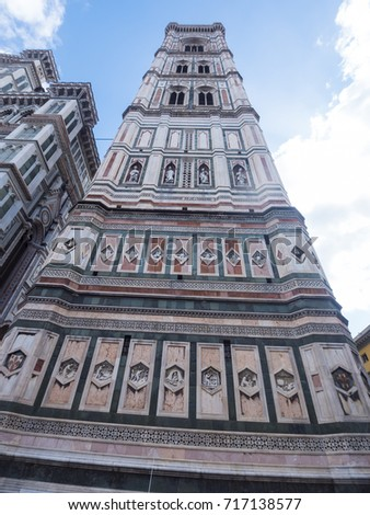 The Giotto Tower in Florence (Giottos Campanile)