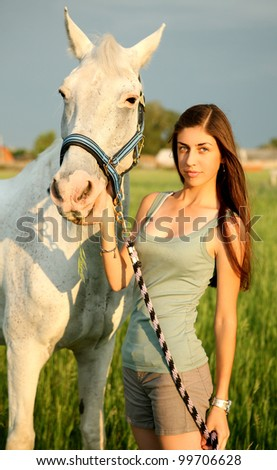 The girl and horse