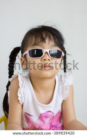 The girl are enjoy with sunglasses.