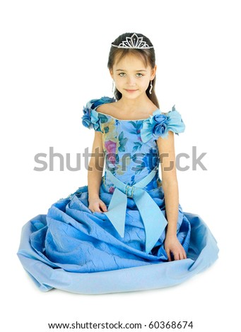 The girl in a dress of the princess - stock photo