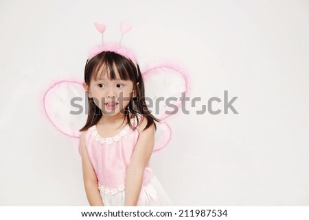 The Girl in fairy dress - stock photo