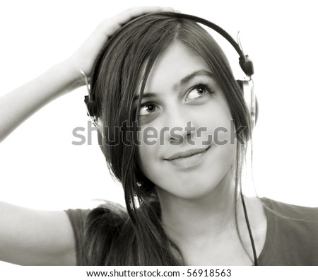 The girl in headphones