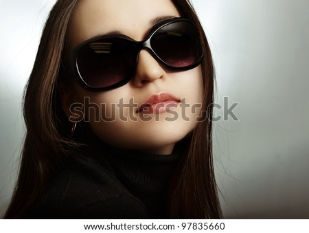 The girl in sun glasses