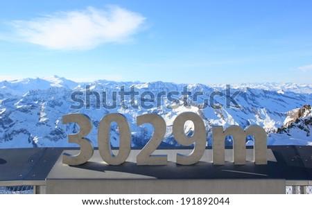 The Glacier - Freedom at 3,029 Metres. Kitzsteinhorn Mountain. Skiing Resort Kaprun, The Alps, Austria. - stock photo