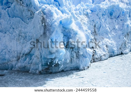 the glacier Perito moreno, Patagonia, Argentina - stock photo