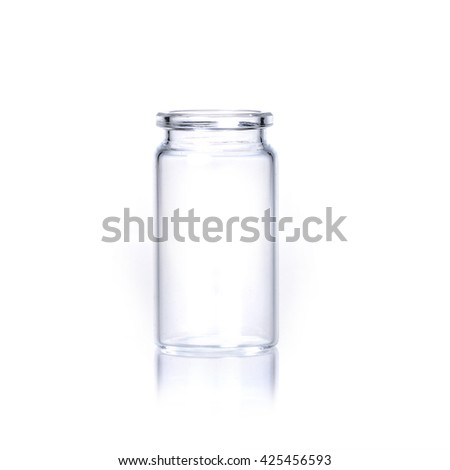 the glass bottle on white background