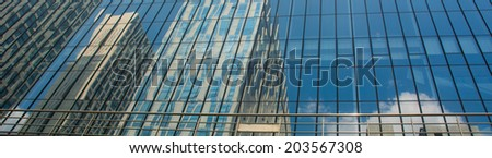 The glass reflection - stock photo