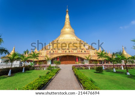 The Global Vipassana Pagoda is a Meditation Hall in Mumbai, India - stock photo