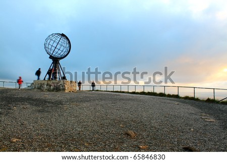 The globe at Nordkapp, Norway