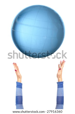 The globe on a white background - stock photo