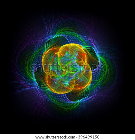 The God Particle abstract illustration - stock photo