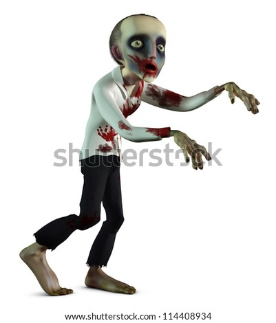 the going bloody zombie - stock photo