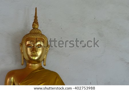 The gold Buddha statue