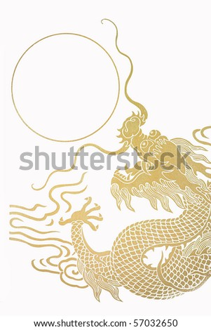 The gold dragon 11 - stock photo