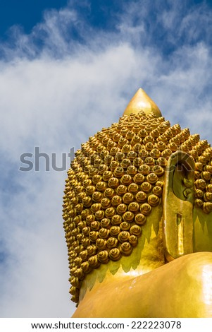 The golden Buddha statue - stock photo