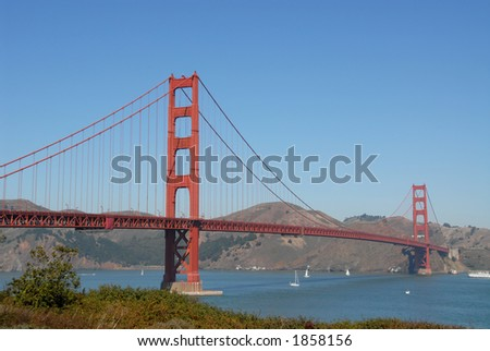 The Golden Gate Bridge from San Francisco, California