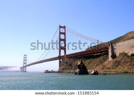 The golden gate bridge in San Francisco - stock photo