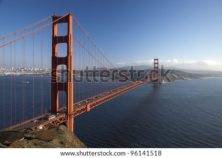 The Golden Gate Bridge in San Francisco bay