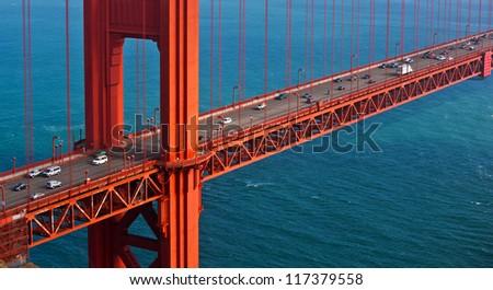 The Golden Gate Bridge in San Francisco, California, USA - stock photo