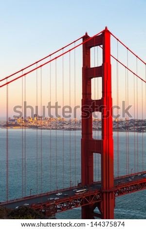 The golden gate bridge of San Francisco