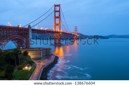 The Golden Gate Bridge, San Francisco, USA - stock photo