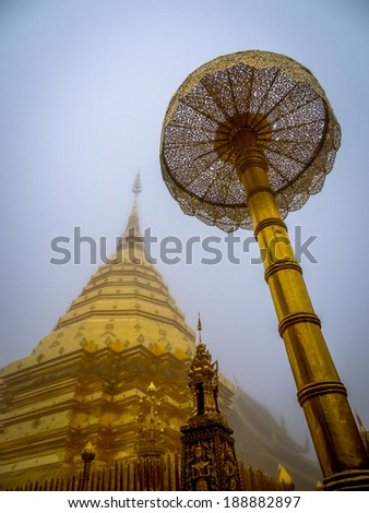 the golden pagoda in the winter season