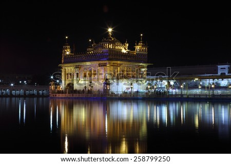 The Golden Temple of Amritsar in India