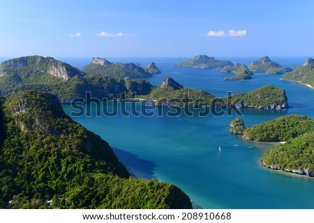 the gorgeous viewpoint , Angthong national park