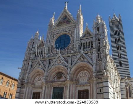 The gothic Cathedral of Siena (Tuscany, Italy)