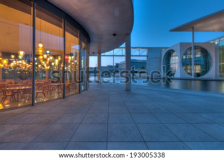 The government building district in Berlin Mitte, the capital of Germany, along the river Spree.  - stock photo