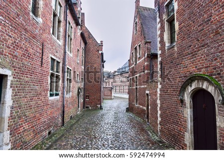 The Grand Beguinage of Leuven is historical quarter.Province of Flemish Brabant, Flanders, Belgium