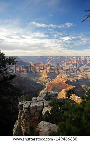 The Grand Canyon in the evening