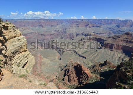 The Grand Canyon National park in late summer in Arizona