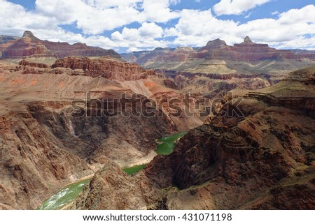 The Grand Canyon of The Colorado River. Grand Canyon National Park, South Rim, Arizona - stock photo