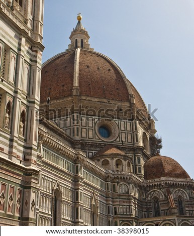 The grand church known as Il Duomo in Florence Italy