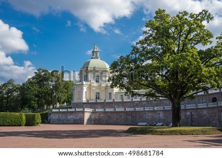 The Grand Menshikov Palace in Oranienbaum, Saint-Petersburg, Russia